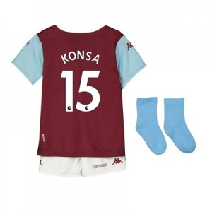 Aston Villa Home Babykit 2019-20 with Konsa 15 printing