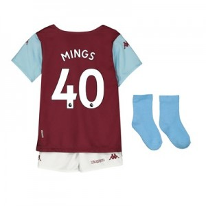 Aston Villa Home Babykit 2019-20 with Mings 40 printing