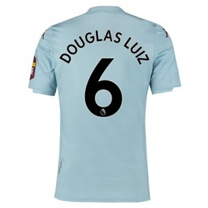Aston Villa Away Elite Fit Shirt 2019-20 with Douglas Luiz 6 printing
