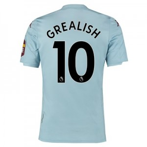 Aston Villa Away Elite Fit Shirt 2019-20 with Grealish 10 printing