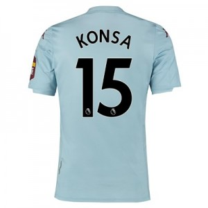 Aston Villa Away Elite Fit Shirt 2019-20 with Konsa 15 printing