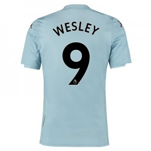 Aston Villa Away Shirt 2019-20 - Kids with Wesley 9 printing