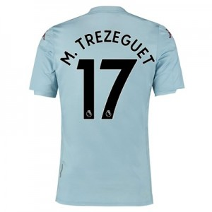 Aston Villa Away Shirt 2019-20 - Kids with M. Trezeguet 17 printing