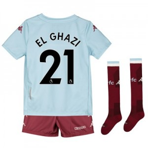 Aston Villa Away Minikit 2019-20 with El Ghazi 21 printing