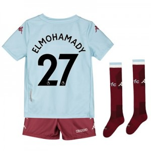 Aston Villa Away Minikit 2019-20 with Elmohamady 27 printing