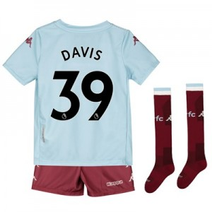 Aston Villa Away Minikit 2019-20 with Davis 39 printing