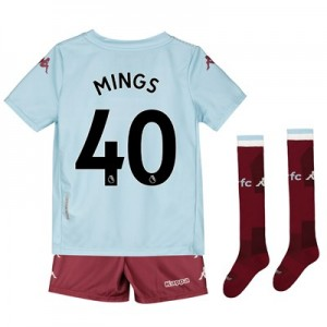Aston Villa Away Minikit 2019-20 with Mings 40 printing