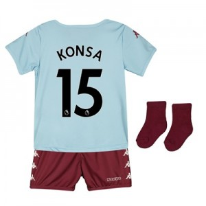Aston Villa Away Babykit 2019-20 with Konsa 15 printing