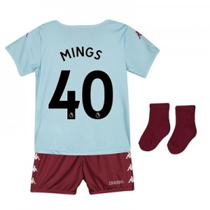 Aston Villa Away Babykit 2019-20 with Mings 40 printing