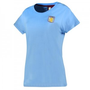 Aston Villa Classic Slouch Fit T-Shirt - Sky Marl - Womens