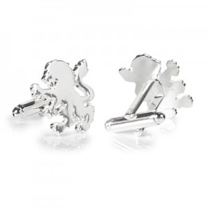 Aston Villa Lion Cufflinks - Silver Plated