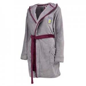 Aston Villa Hooded Robe - Grey Marl - Womens