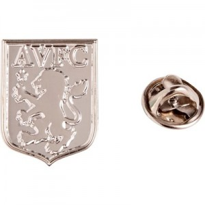 Aston Villa Crest Badge - Silver Plated