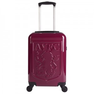 Aston Villa Travel Suitcase - Claret - Cabin Sized