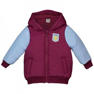 Aston Villa Infant Padded Varsity Coat -Sky / Claret - Unisex