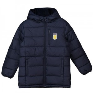 Aston Villa Core Padded Jacket - Navy - Junior Boys