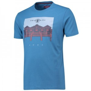 Aston Villa Terrace Home T-Shirt - Dark Blue - Mens