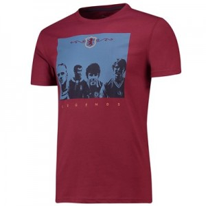 Aston Villa Terrace Legends T-shirt - Claret - Mens