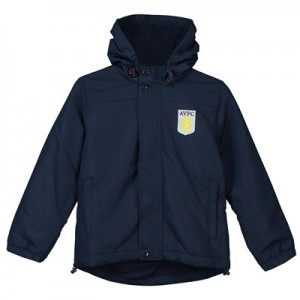 Aston Villa Core Fleece Lined Hooded Jacket - Navy - Junior Boys