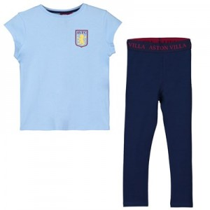 Aston Villa Oversized T and Legging Lounge Set- Sky/Navy - Girls