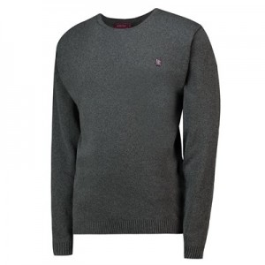Aston Villa Terrace Crew Neck Jumper - Charcoal - Mens