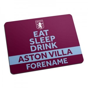 Aston Villa Personalised Eat Sleep Drink Mouse Mat