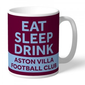 Aston Villa Personalised Eat Sleep Drink Mug