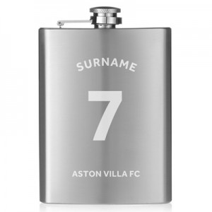 Aston Villa Personalised Shirt Hip Flask