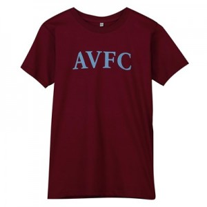 Aston Villa Wordmark T Shirt - Maroon - Kids