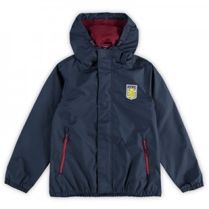 Aston Villa Shower Jacket - Navy - Kids