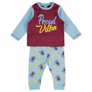 Aston Villa Villan in Training Pyjama Set - Grey Marl - Baby