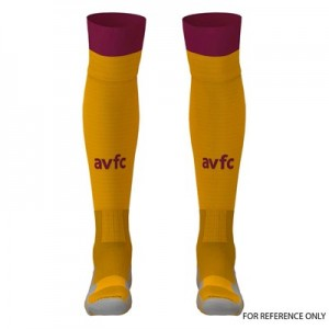 Aston Villa Away Goalkeeper Socks 2019-20 - Kids