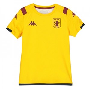 Aston Villa Away Pre Match Top - Yellow - Kids