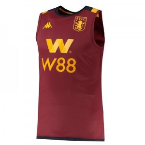 Aston Villa Sleeveless Training Top - Claret