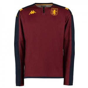 Aston Villa 1/4 Zip Training Top - Claret - Kids