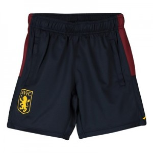 Aston Villa Zipped Training Shorts - Navy - Kids