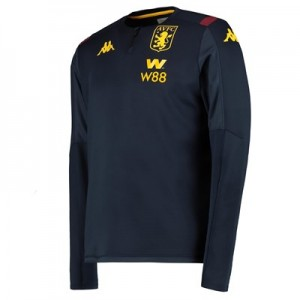 Aston Villa 1/4 Zip Training Top - Navy