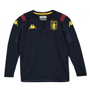 Aston Villa 1/4 Zip Training Top - Navy - Kids