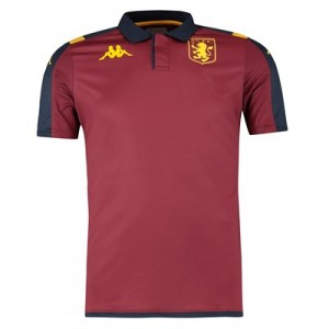 Aston Villa Poly Polo - Claret - Kids