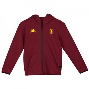 Aston Villa Tech Fleece Track Top - Claret - Kids