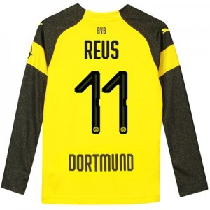 BVB Home Shirt 2018-19 - Kids - Long Sleeve with Reus 11 printing