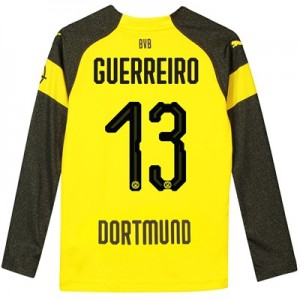 BVB Home Shirt 2018-19 - Kids - Long Sleeve with Guerreiro 13 printing