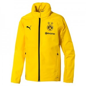 BVB Training Rain Jacket - Yellow - Kids