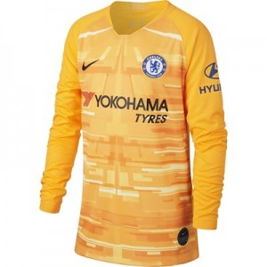 Chelsea Home Stadium Goalkeeper Shirt 2019-20 - Long Sleeve - Kids