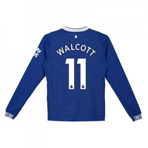 Everton Home Shirt 2018-19 - Kids - Long Sleeve with Walcott 11 printing