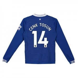 Everton Home Shirt 2018-19 - Kids - Long Sleeve with Cenk Tosun 14 printing