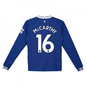 Everton Home Shirt 2018-19 - Kids - Long Sleeve with McCarthy 16 printing