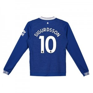 Everton Home Shirt 2018-19 - Kids - Long Sleeve with Sigurdsson 10 printing