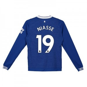 Everton Home Shirt 2018-19 - Kids - Long Sleeve with Niasse 19 printing