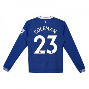 Everton Home Shirt 2018-19 - Kids - Long Sleeve with Coleman 23 printing